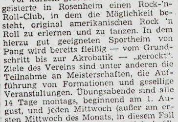 Juli 1977 | Zeitungsartikel zur Clubgründung