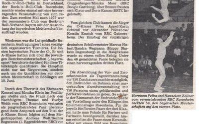 1989 | Bayerische Meisterschaft 1989