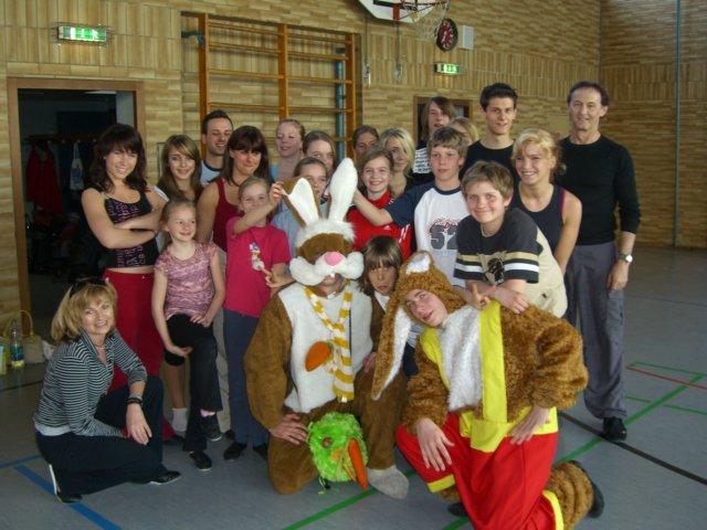 "05.04.2007 | ""Meister Lampe im Training"""
